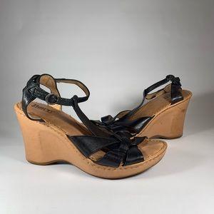 Born Robin Leather wedge Platform Sandals